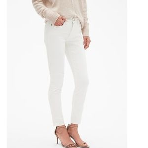 NWT BR StayClean Sculpt White Skinny Jean 25P c492